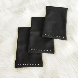 Quay Australia Black Soft Magnetic Sunglasses Case